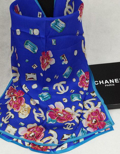 Replica Chanel Scarves Silk CH16001 Blue