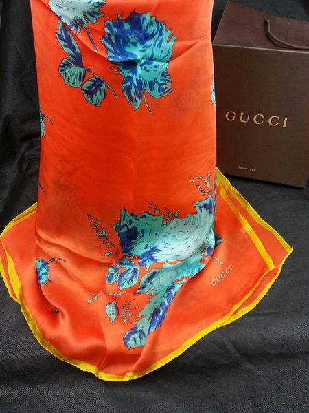 Replica Gucci Silk Scarf CH15772 Orange