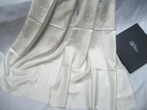 Replica MQUEEN Scarves Silk MQ16012 White