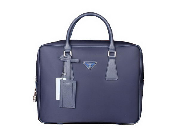 Prada Nylon Fabric Briefcase P0300 Blue