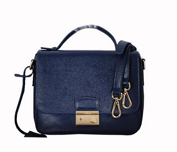Prada Original Leather Mini Bag BT0952 RoyalBlue