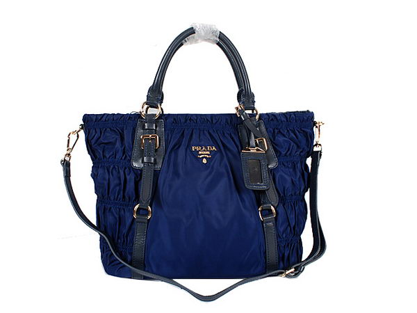 Prada Gaufre Fabric Tote Bag BN1793 Blue