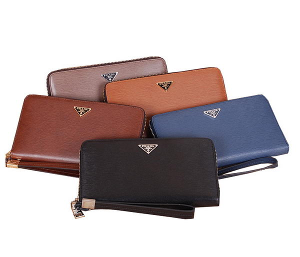Prada Saffiano Leather Clutch 8P601