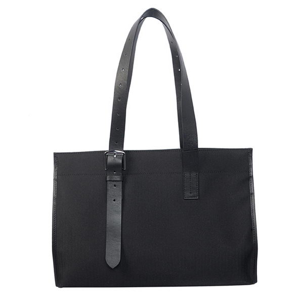 Hermes Shoulder Bag Canvas & Leather H1674B Black
