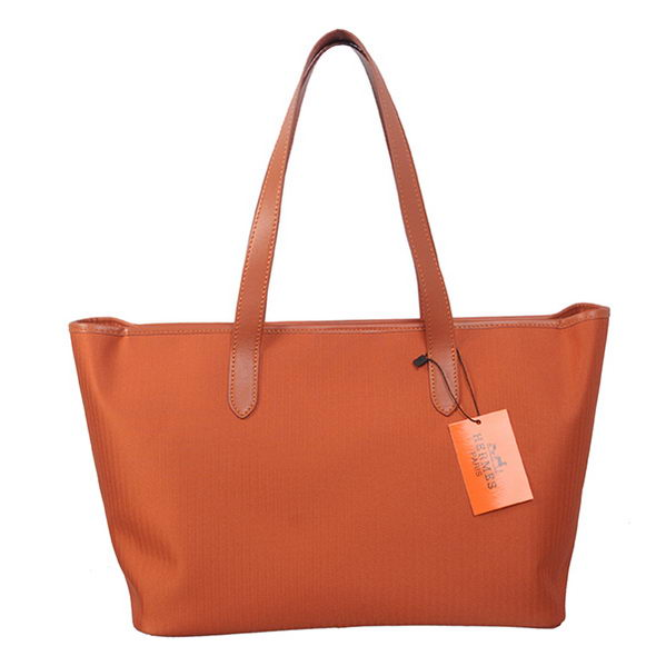 Hermes Shoulder Bag Canvas & Leather H1670 Orange