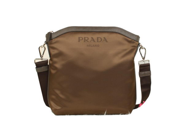 Prada Vela Fabric Shoulder Bags BT0703 Khaki