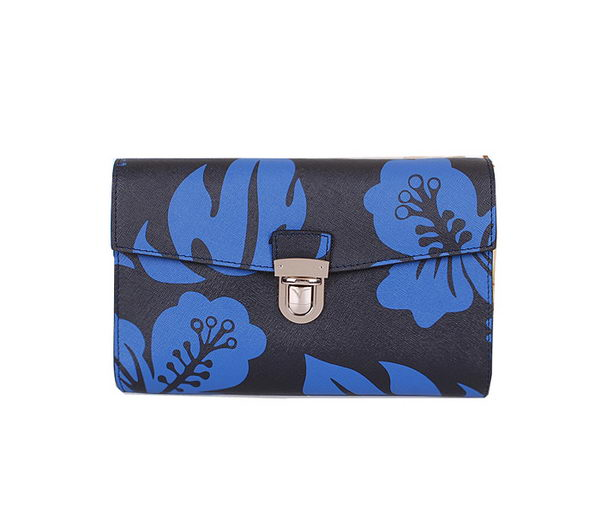 Prada Saffiano Leather Document Holder P60022 Blue