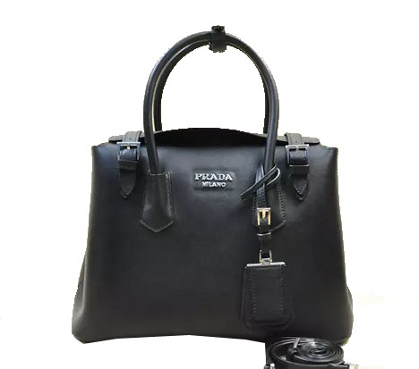 Prada Original Leather Tote Bag BR5071M Black