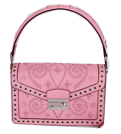 Prada Saffiano Caflskin Leather Flap Bag BN924E Pink