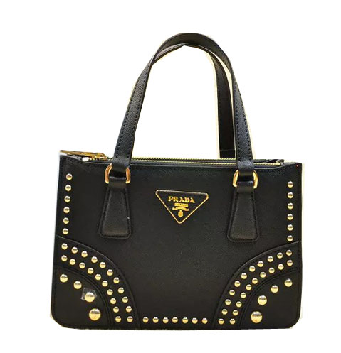 Prada Saffiano Leather Tote Bag B1142B Black