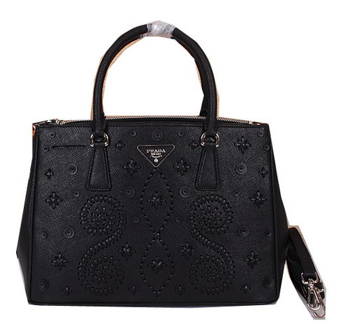 Prada Weave Leather Tote Bag B2274 Black