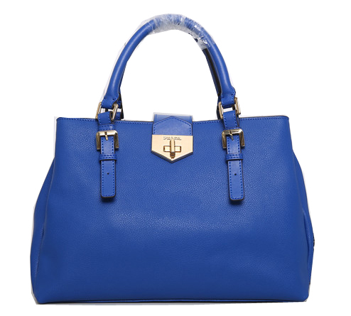 Prada Original Leather Tote Bag BN8019 Blue