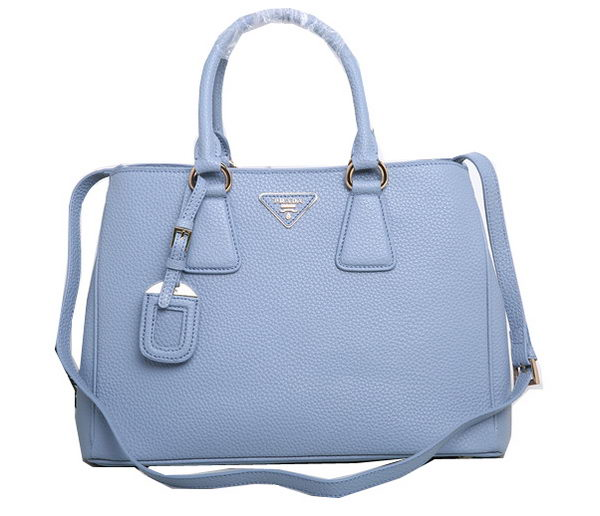 Prada Grainy Leather Tote Bags BN2579 SkyBlue dc486a0f0586d