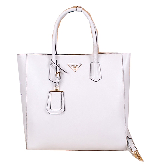 Prada Original Leather Tote Bag BN2773 White