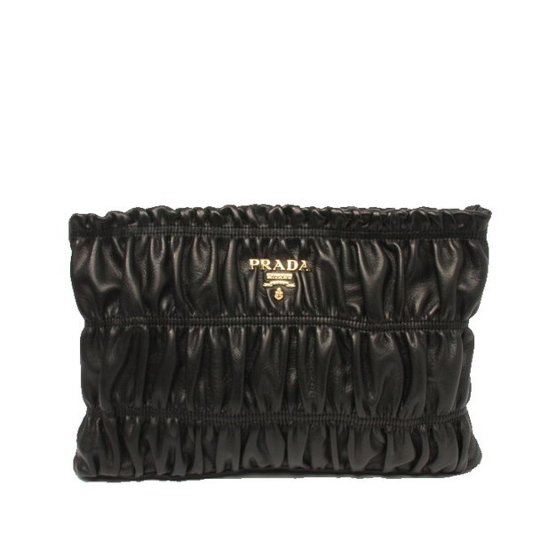 Prada Gaufre Leather Clutch BP0237 Black