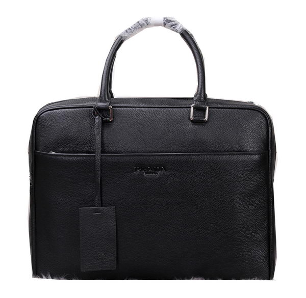 Prada Grainy Leather Briefcase VA0308 Black