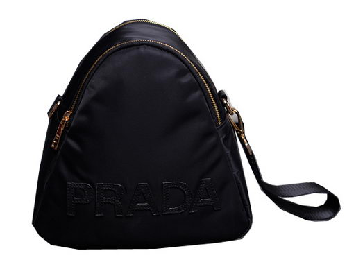 Prada Fabric Shoulder Bag BN2133 Black