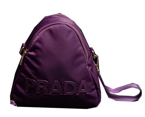 Prada Fabric Shoulder Bag BN2133 Purple