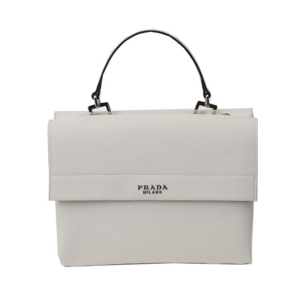Prada Original Leather Tote Bags BN2790 White