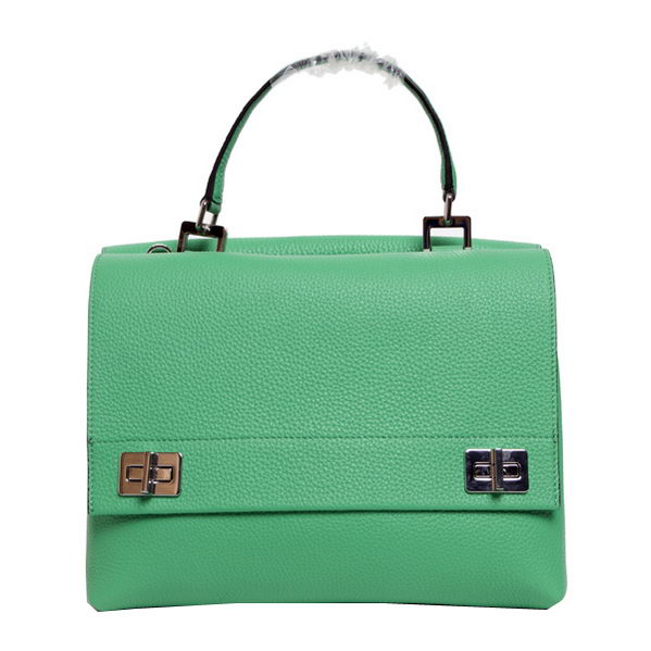 Prada Original Leather Tote Bags BN2796 Green