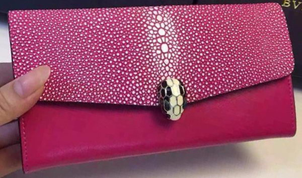 BVLGARI Serpenti Forever Wallet Calfskin Leather BG5689 Rose