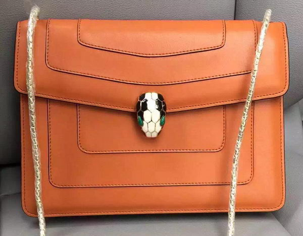 BVLGARI Shoulder Bag Calfskin Leather BG90072 Wheat