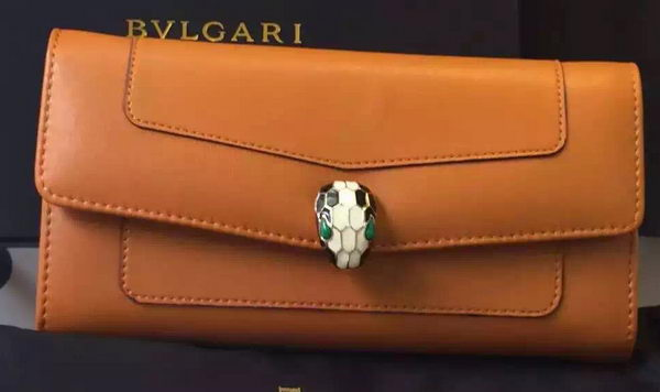 BVLGARI Wallet Pochette in Calf Leather BG0122 Wheat