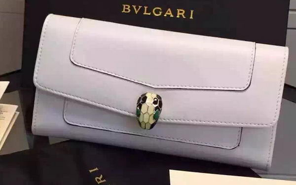 BVLGARI Wallet Pochette in Calf Leather BG0122 White