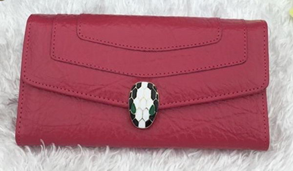 BVLGARI Wallet Pochette in Calf Leather BG1243 Rose