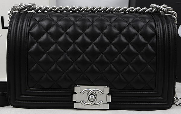 Boy Chanel Flap Bag Original Calfskin Leather A67025 Black