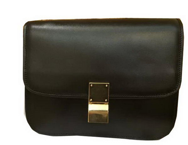 Celine Classic Box Small Flap Bag Smooth Leather C3347 Black