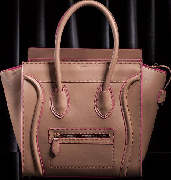 Celine Luggage Micro Boston Bag Original Leather CLT3307 Light Pink