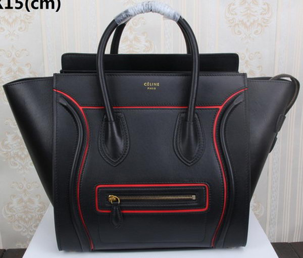 Celine Luggage Mini Tote Bag Original Leather CLY33081L Black
