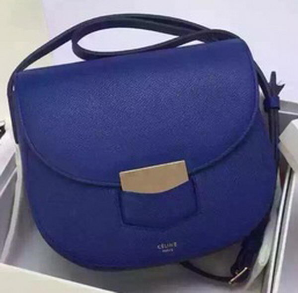 Celine Trotteur Bag Calfskin Leather CTA4298 Blue