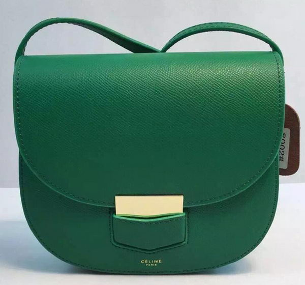 Celine Trotteur Bag Calfskin Leather CTA8002 Green