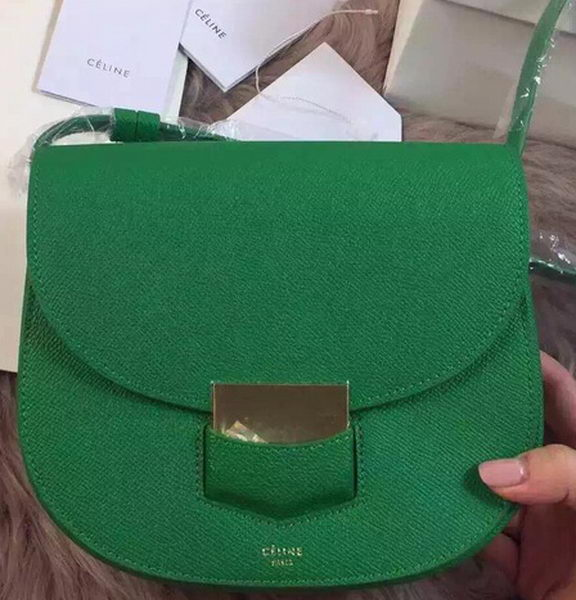 Celine Trotteur Bag Litchi Leather CTA4298 Green