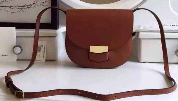 Celine Trotteur Bag Smooth Leather CTA4298 Brown