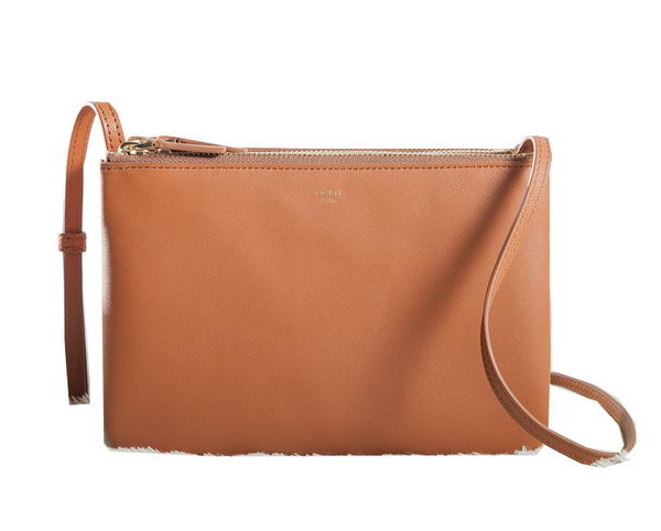 Celine mini Trio Crossbody Messenger Bag C3001 Wheat