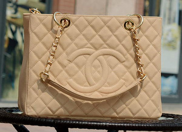 Chanel Classic Coco Bag Apricot GST Cannage Pattern A50995 Gold