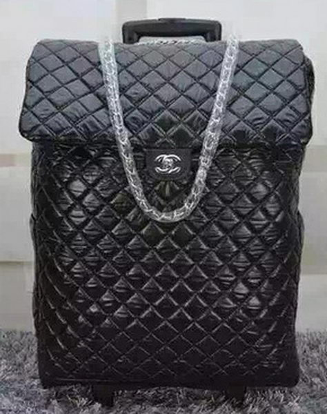 Chanel Classic Quilted Nylon Trolley A57438 Black