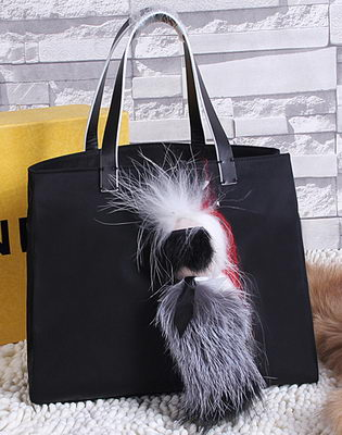 Fendi KARLITO Fabric Tote Bag FD6170 Black