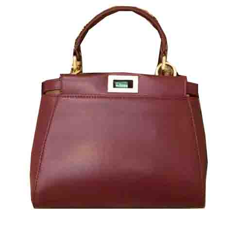 Fendi mini Peekaboo Bag Original Leather 55211 Burgundy