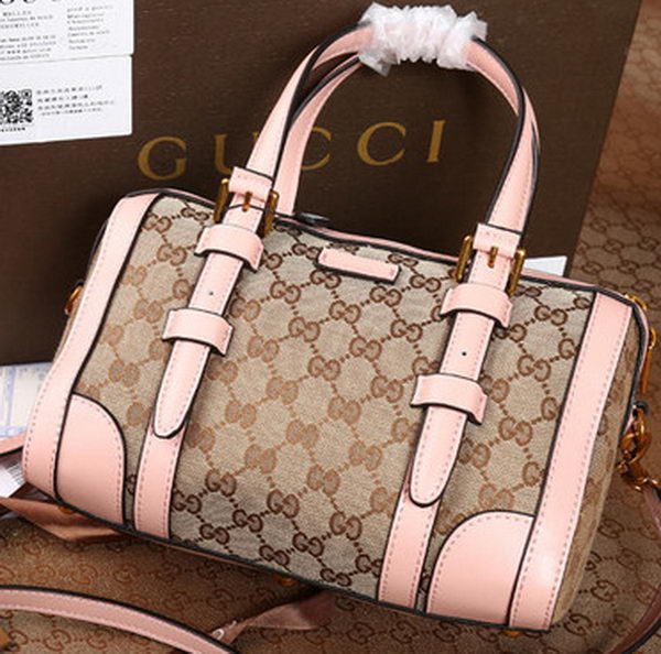 Gucci GG Canvas Classic Tote Bag 387601 Pink