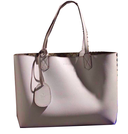 Gucci Reversible GG Leather Tote Bags 368568 White