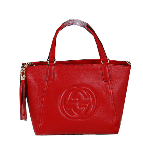 Gucci Soho Original Leather Top Handle BagS 369176 Red