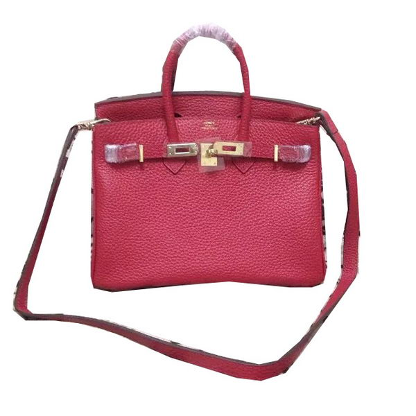 Hermes Birkin 25CM Tote Bag Original Leather H25 Red