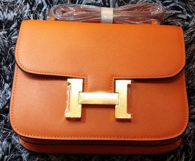 Hermes Constance Bag Litchi Leather H9998 Orange
