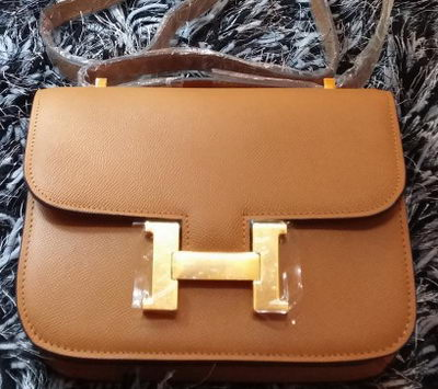 Hermes Constance Bag Litchi Leather H9998 Wheat