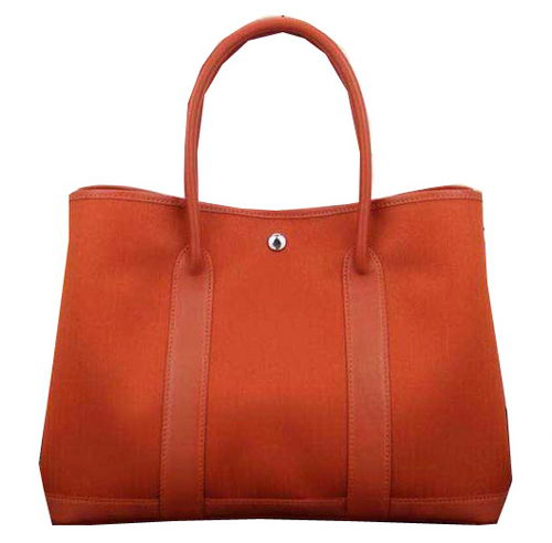 Hermes Garden Party 36cm 30cm Tote Bag Canvas Orange