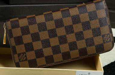 Louis Vuitton Damier Ebene Canvas BRAZZA WALLET N60017